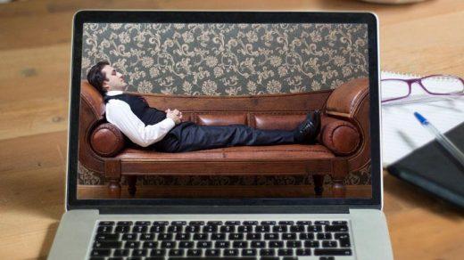 Психолог онлайн и кушетка.