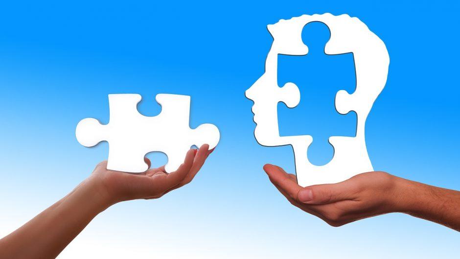 Пазл мозаики - символ когнитивно-поведенческой психотерапии.