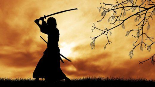 Защитная стойка самурая.