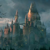 Страшный старый замок.